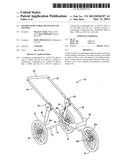FOLDING BABY STROLLER SYSTEM AND METHOD diagram and image