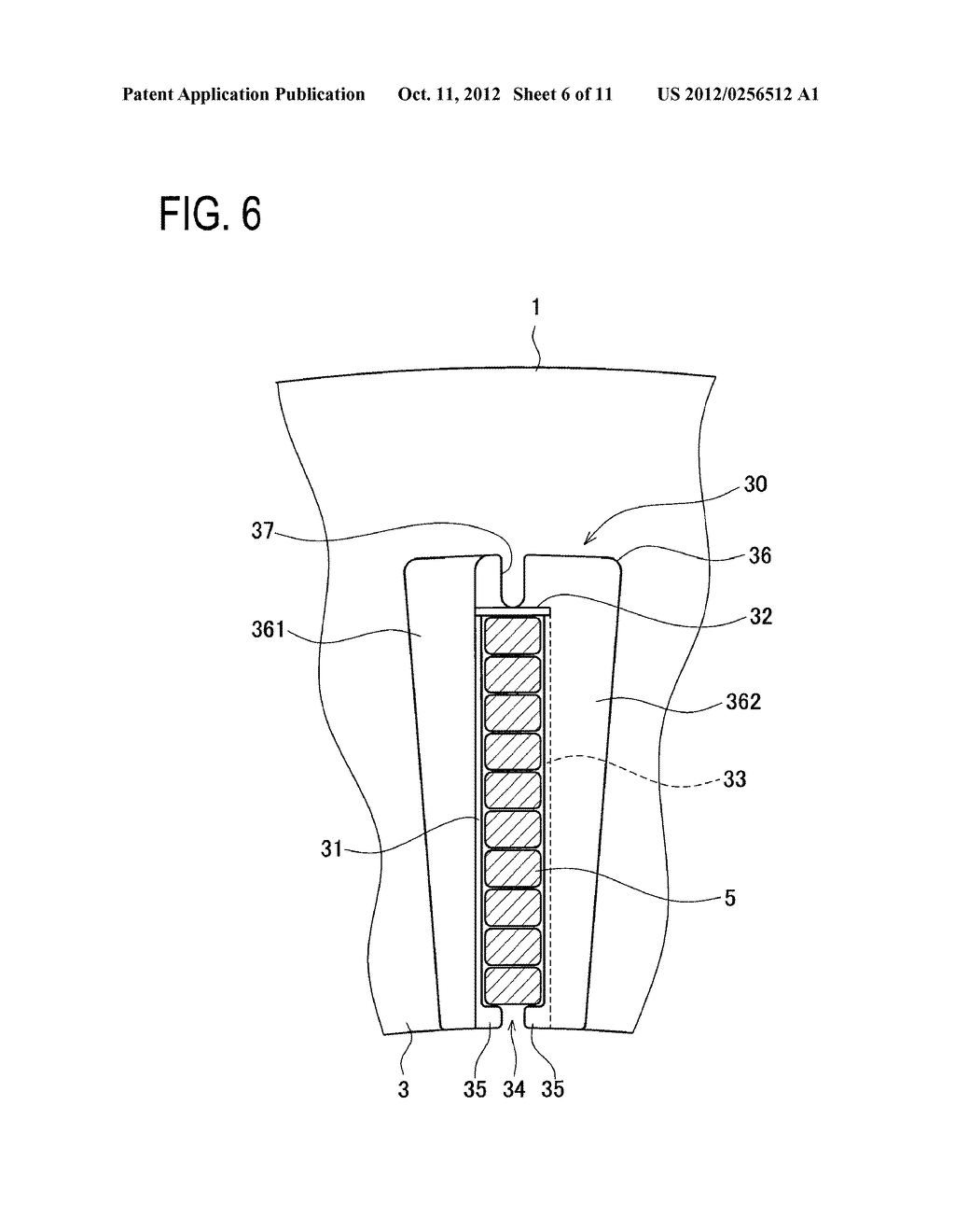 STATOR STRUCTURE FOR ROTARY ELECTRIC MACHINE AND METHOD FOR ASSEMBLING     STATOR - diagram, schematic, and image 07