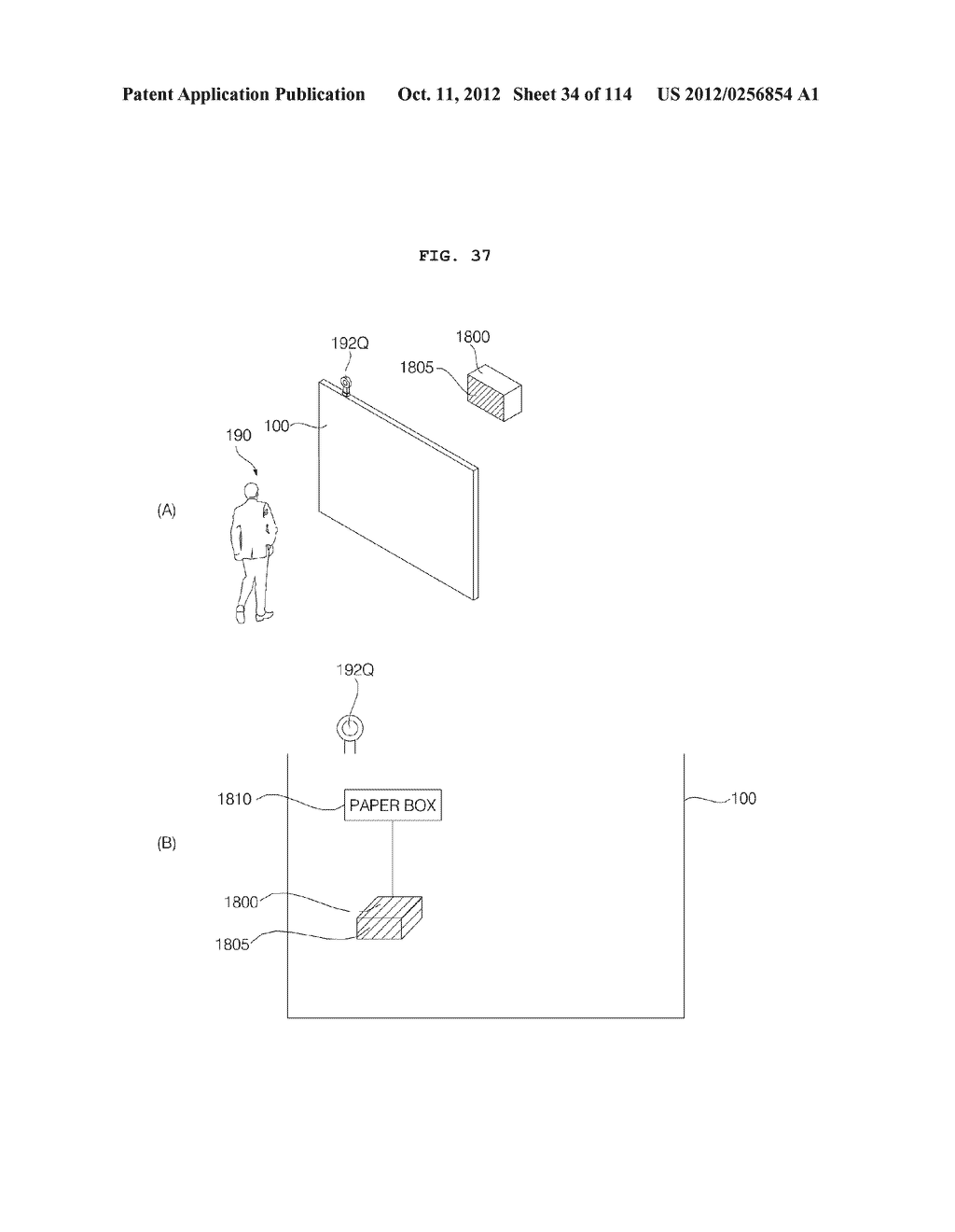 TRANSPARENT DISPLAY APPARATUS AND METHOD FOR OPERATING THE SAME - diagram, schematic, and image 35
