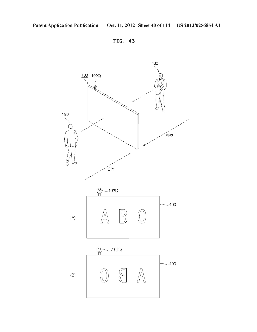 TRANSPARENT DISPLAY APPARATUS AND METHOD FOR OPERATING THE SAME - diagram, schematic, and image 41