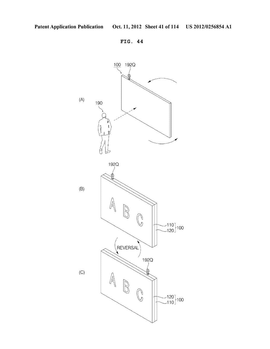 TRANSPARENT DISPLAY APPARATUS AND METHOD FOR OPERATING THE SAME - diagram, schematic, and image 42