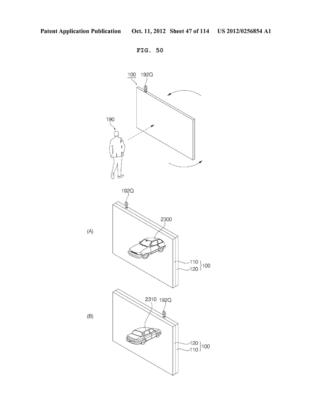 TRANSPARENT DISPLAY APPARATUS AND METHOD FOR OPERATING THE SAME - diagram, schematic, and image 48