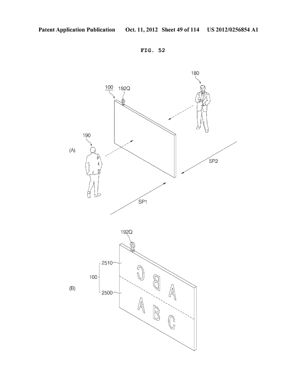 TRANSPARENT DISPLAY APPARATUS AND METHOD FOR OPERATING THE SAME - diagram, schematic, and image 50