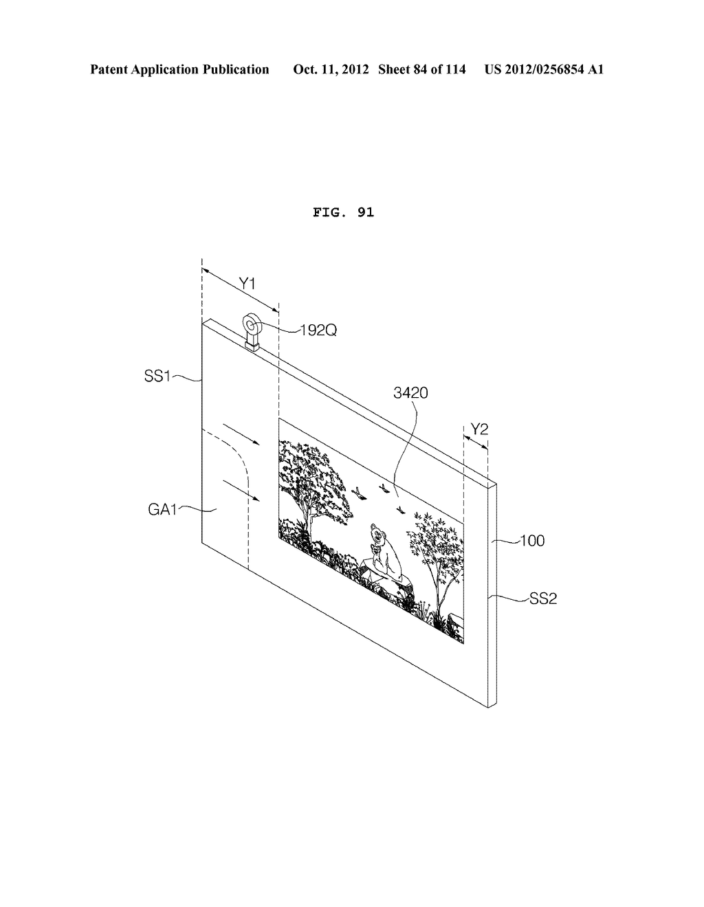 TRANSPARENT DISPLAY APPARATUS AND METHOD FOR OPERATING THE SAME - diagram, schematic, and image 85