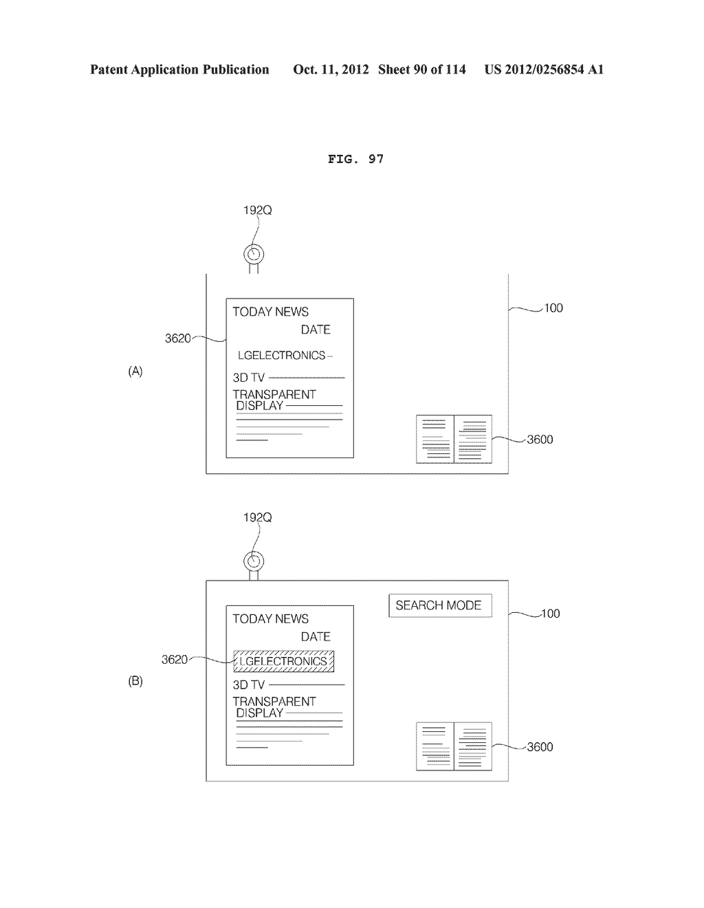 TRANSPARENT DISPLAY APPARATUS AND METHOD FOR OPERATING THE SAME - diagram, schematic, and image 91