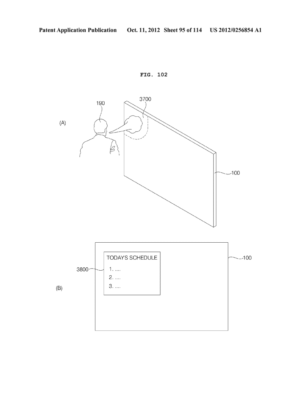 TRANSPARENT DISPLAY APPARATUS AND METHOD FOR OPERATING THE SAME - diagram, schematic, and image 96
