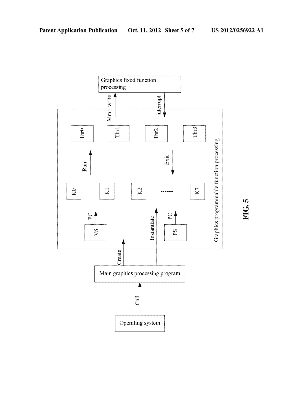 Multithreaded Processor and Method for Realizing Functions of Central     Processing Unit and Graphics Processing Unit - diagram, schematic, and image 06