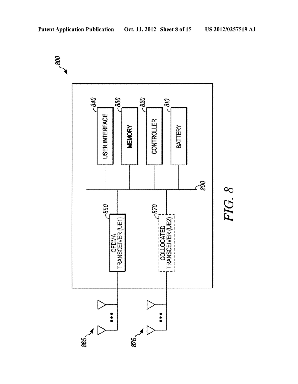 Method and Apparatus for Multi-Radio Coexistence on Adjacent Frequency     Bands - diagram, schematic, and image 09