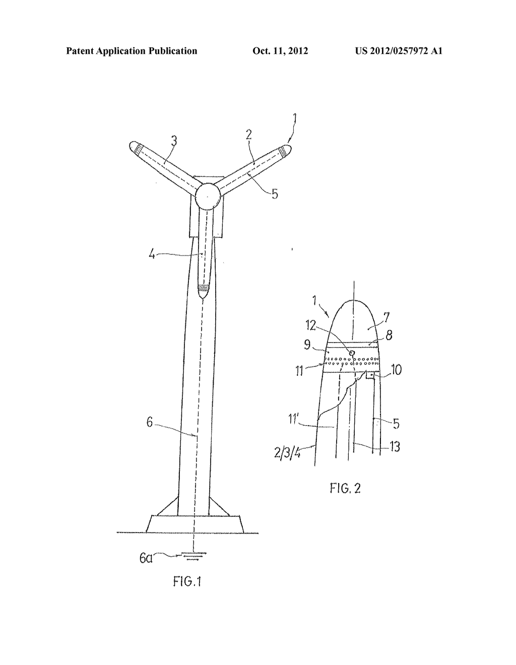 electrostatic charge de-ionizing lightning rod for protection of wind  turbine generator blades and wind turbine generator with blades provide  with