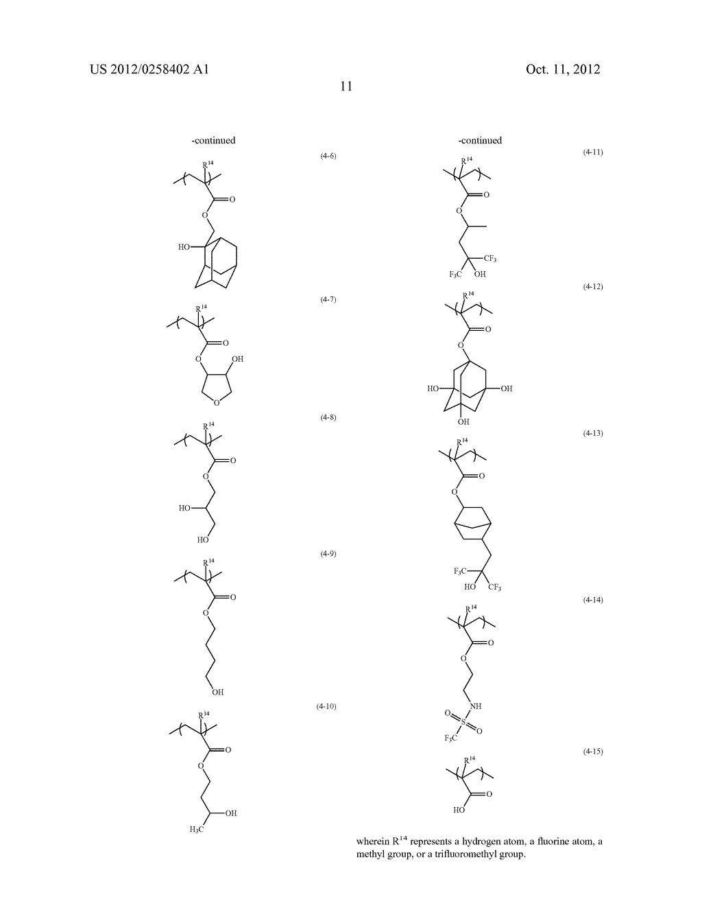PHOTORESIST COMPOSITION, RESIST-PATTERN FORMING METHOD, POLYMER, AND     COMPOUND - diagram, schematic, and image 12
