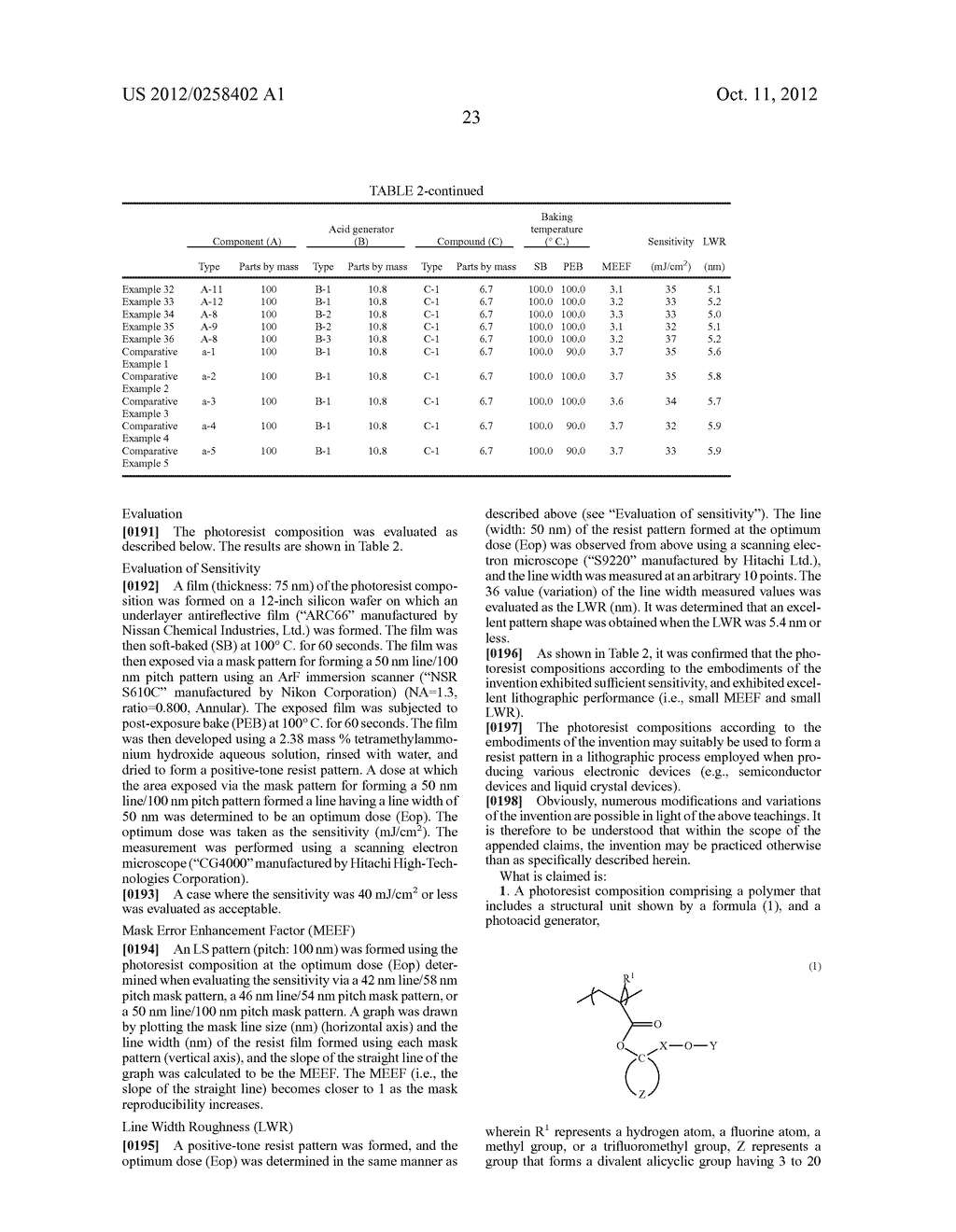 PHOTORESIST COMPOSITION, RESIST-PATTERN FORMING METHOD, POLYMER, AND     COMPOUND - diagram, schematic, and image 24