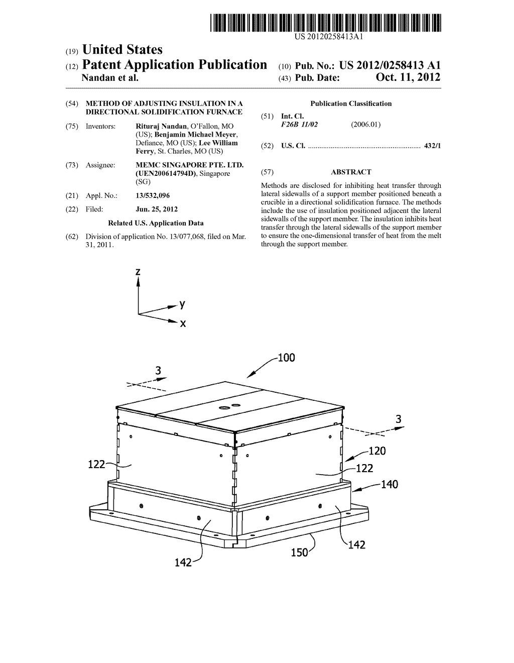 METHOD OF ADJUSTING INSULATION IN A DIRECTIONAL SOLIDIFICATION FURNACE - diagram, schematic, and image 01