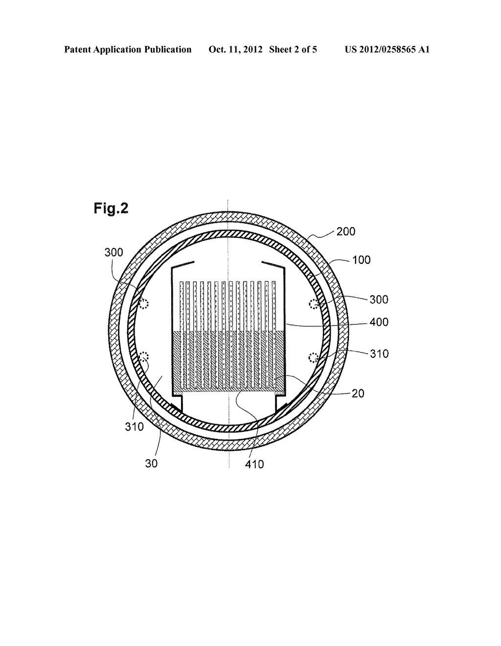 SUBSTRATE PROCESSING APPARATUS AND METHOD FOR FORMING COATING FILM ON     SURFACE OF REACTION TUBE USED FOR THE SUBSTRATE PROCESSING APPARATUS - diagram, schematic, and image 03