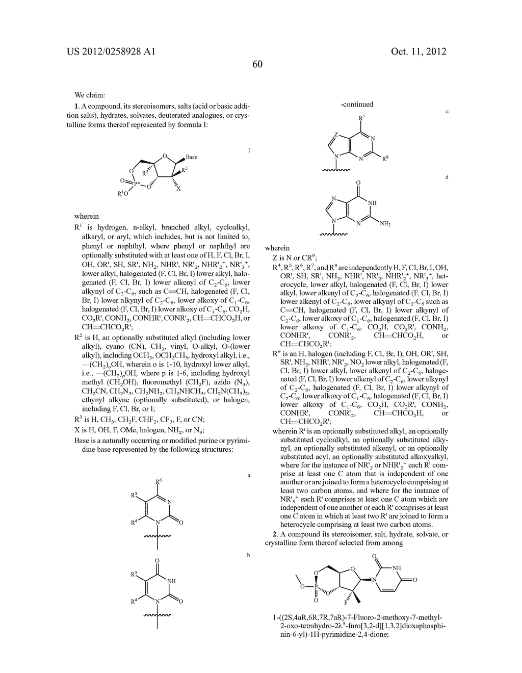 NUCLEOSIDE CYCLICPHOSPHATES - diagram, schematic, and image 61