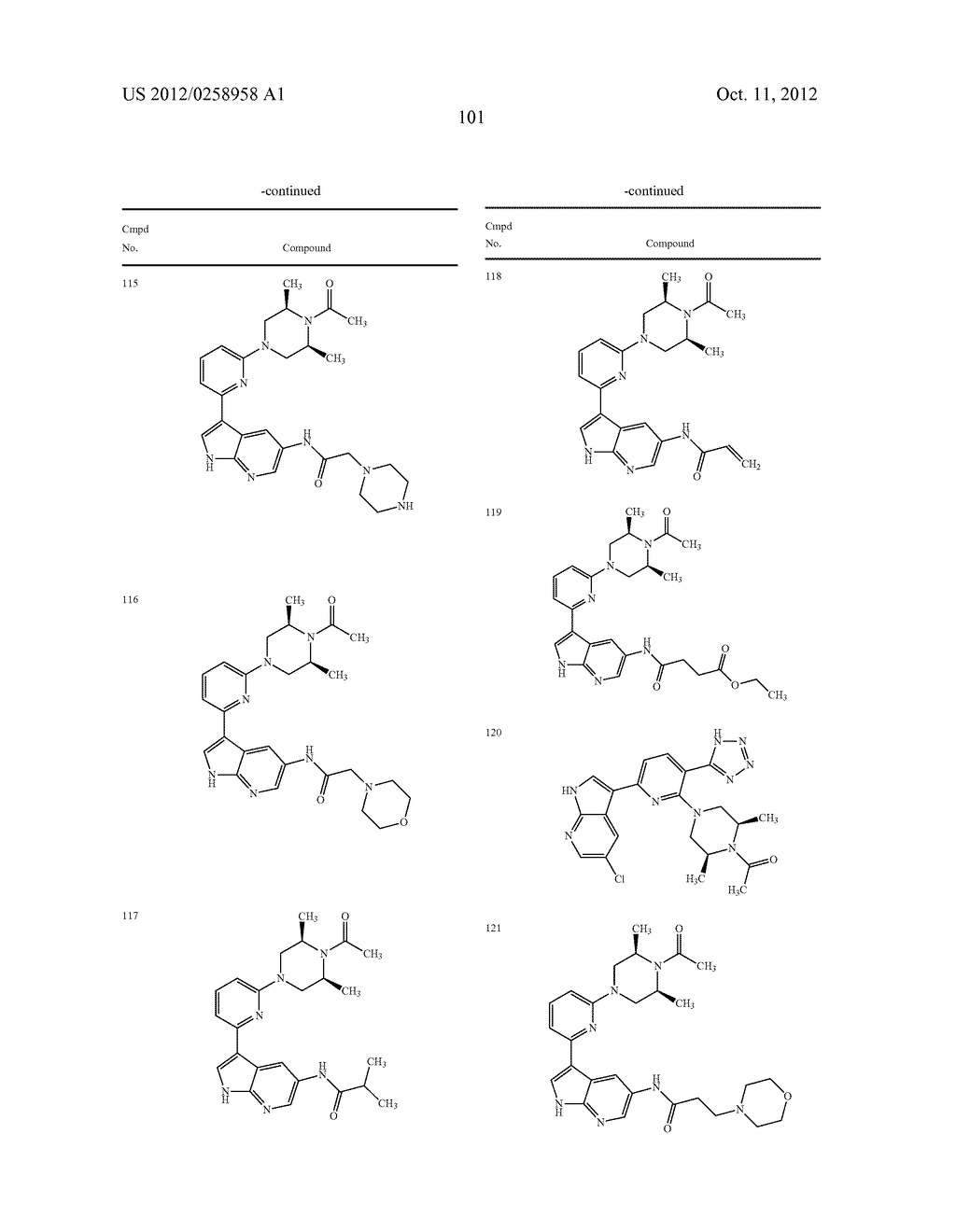 AZAINDOLES USEFUL AS INHIBITORS OF JAK AND OTHER PROTEIN KINASES - diagram, schematic, and image 102