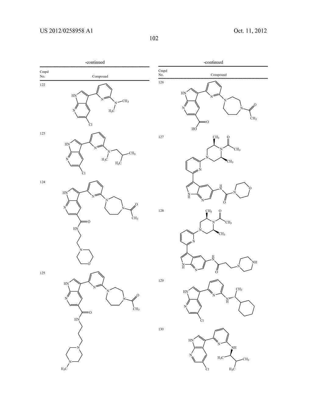 AZAINDOLES USEFUL AS INHIBITORS OF JAK AND OTHER PROTEIN KINASES - diagram, schematic, and image 103