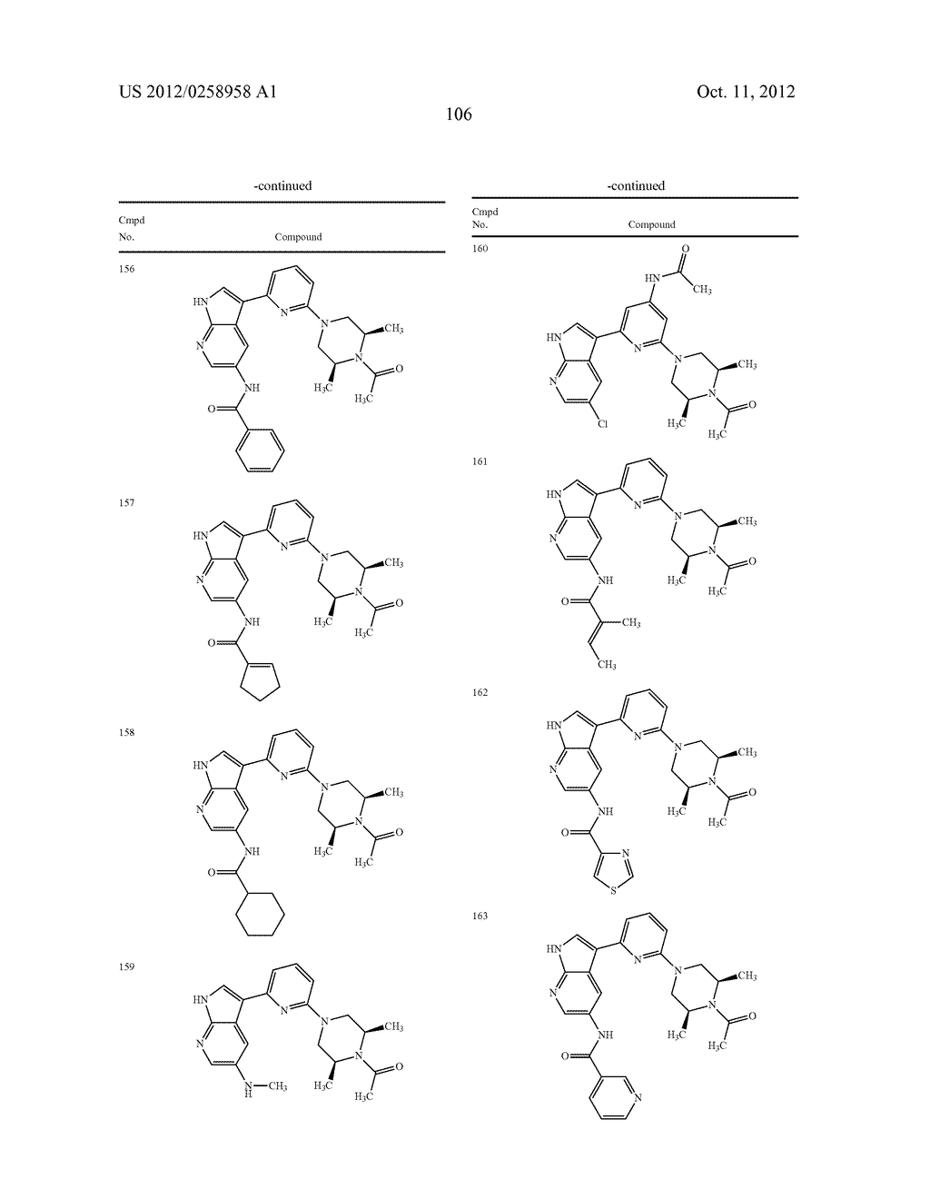 AZAINDOLES USEFUL AS INHIBITORS OF JAK AND OTHER PROTEIN KINASES - diagram, schematic, and image 107