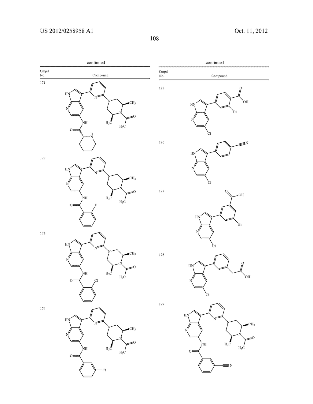 AZAINDOLES USEFUL AS INHIBITORS OF JAK AND OTHER PROTEIN KINASES - diagram, schematic, and image 109