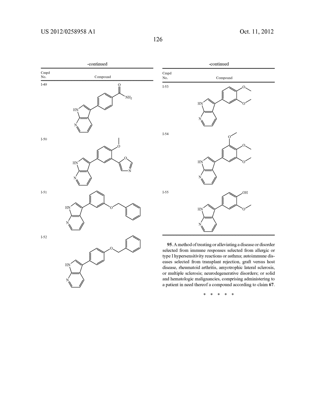 AZAINDOLES USEFUL AS INHIBITORS OF JAK AND OTHER PROTEIN KINASES - diagram, schematic, and image 127