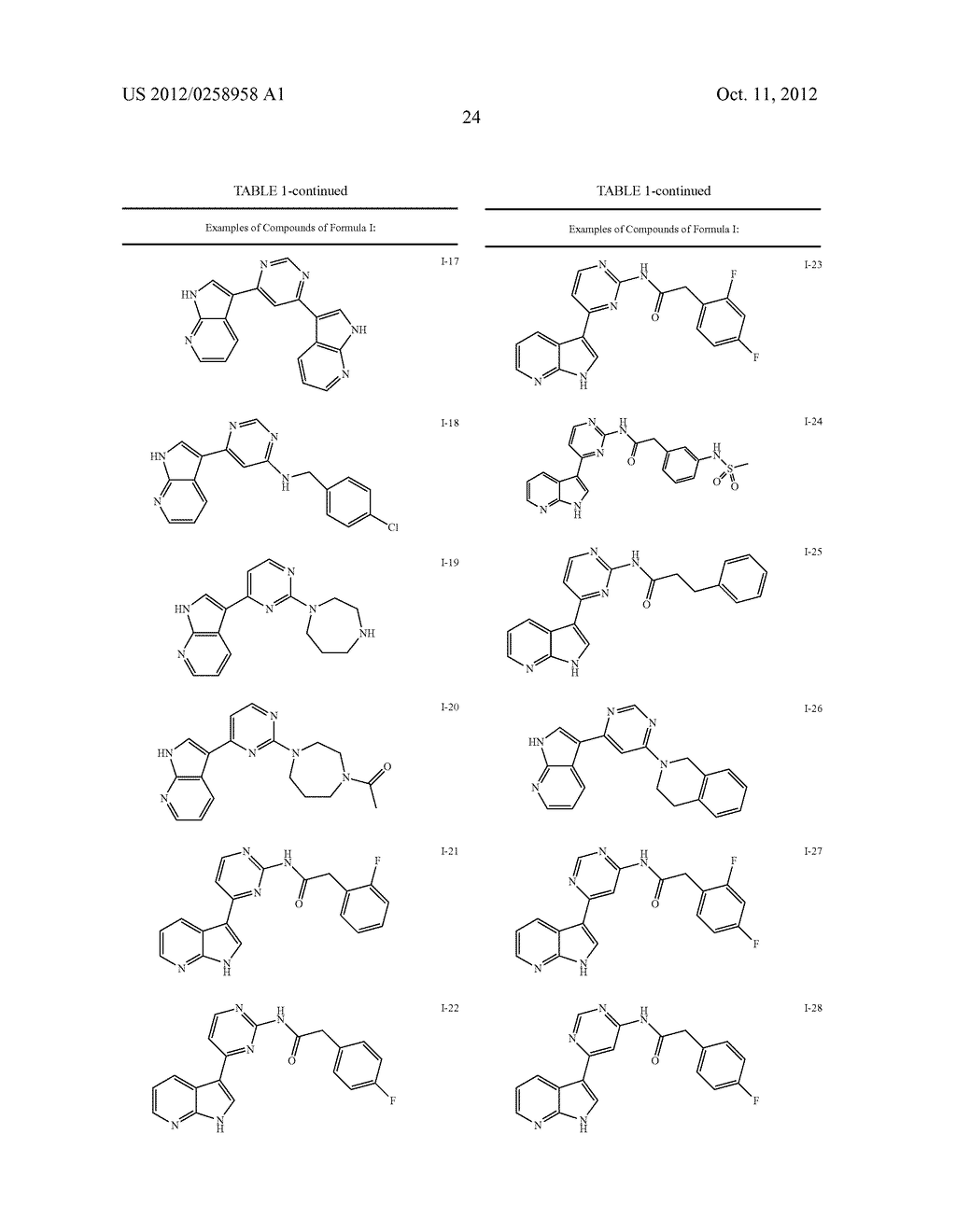 AZAINDOLES USEFUL AS INHIBITORS OF JAK AND OTHER PROTEIN KINASES - diagram, schematic, and image 25