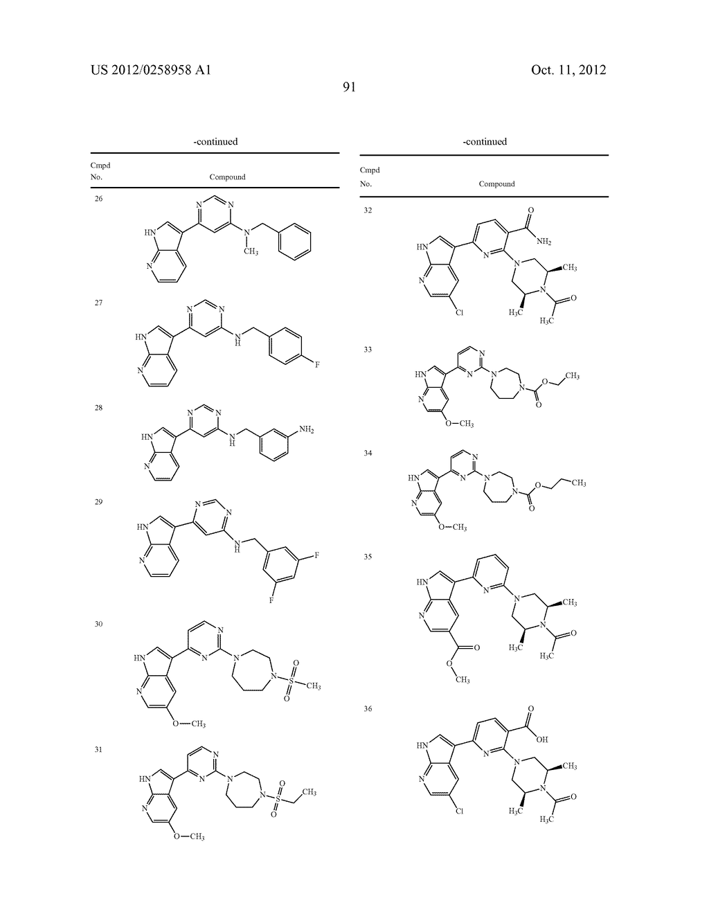 AZAINDOLES USEFUL AS INHIBITORS OF JAK AND OTHER PROTEIN KINASES - diagram, schematic, and image 92