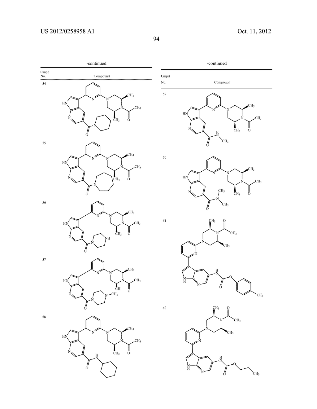 AZAINDOLES USEFUL AS INHIBITORS OF JAK AND OTHER PROTEIN KINASES - diagram, schematic, and image 95