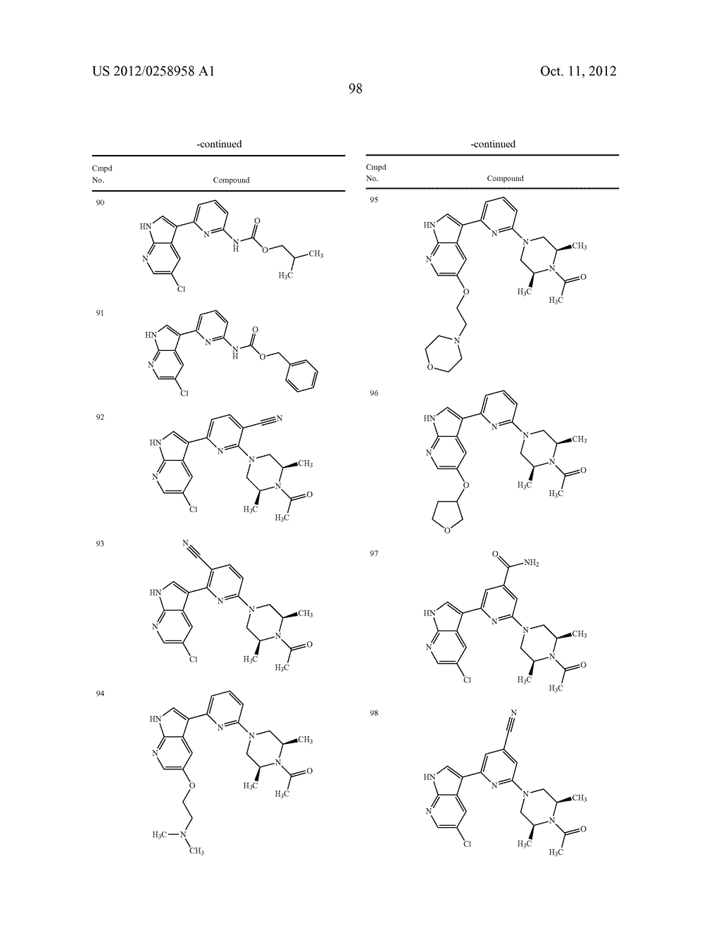 AZAINDOLES USEFUL AS INHIBITORS OF JAK AND OTHER PROTEIN KINASES - diagram, schematic, and image 99