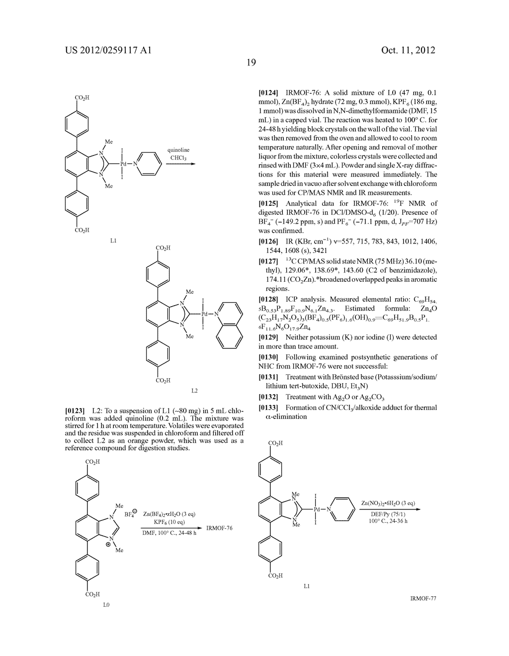 ORGANO-METALLIC FRAMEWORKS AND METHODS OF MAKING SAME - diagram, schematic, and image 38
