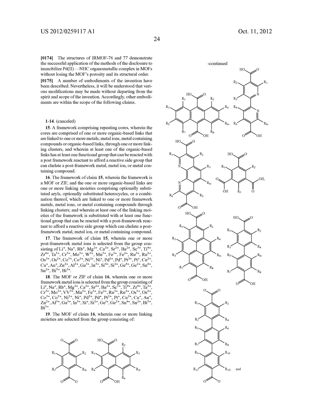 ORGANO-METALLIC FRAMEWORKS AND METHODS OF MAKING SAME - diagram, schematic, and image 43
