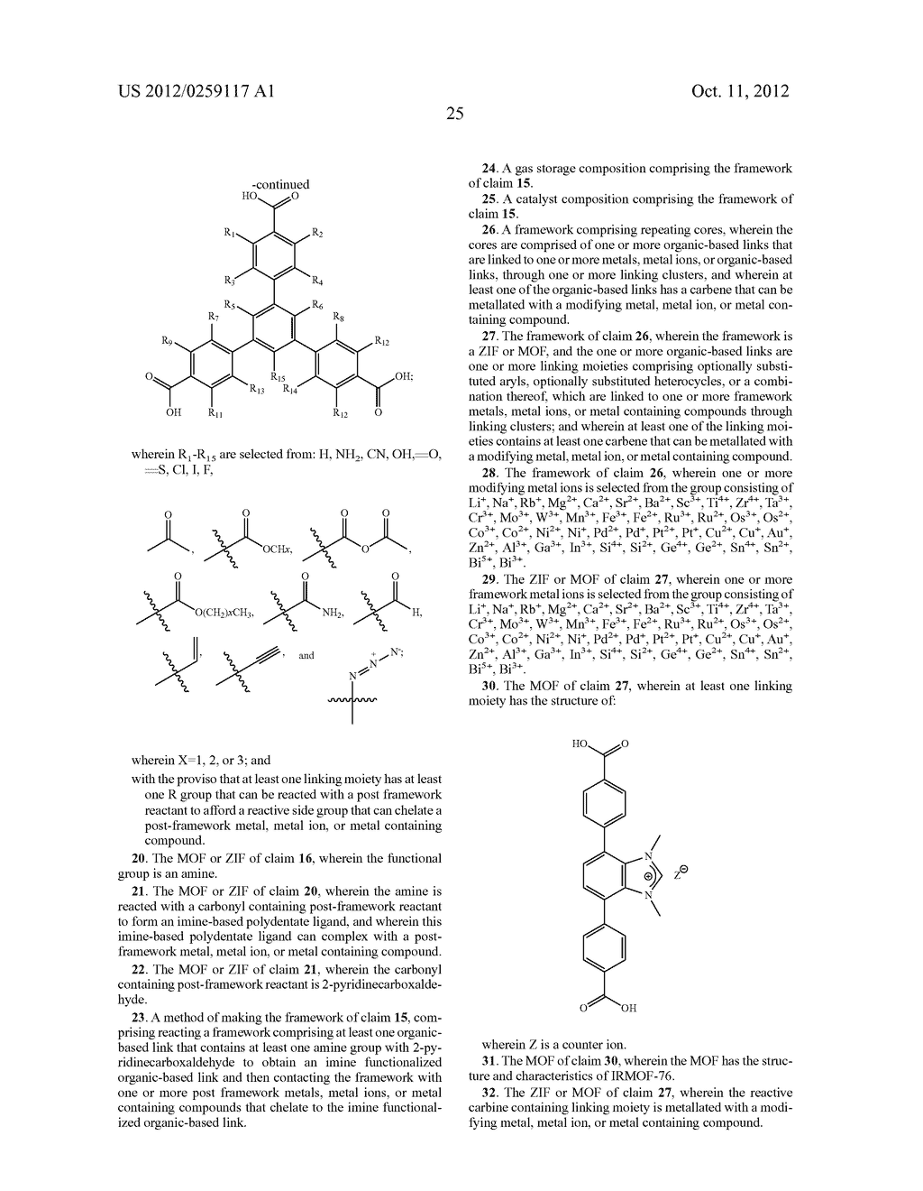 ORGANO-METALLIC FRAMEWORKS AND METHODS OF MAKING SAME - diagram, schematic, and image 44