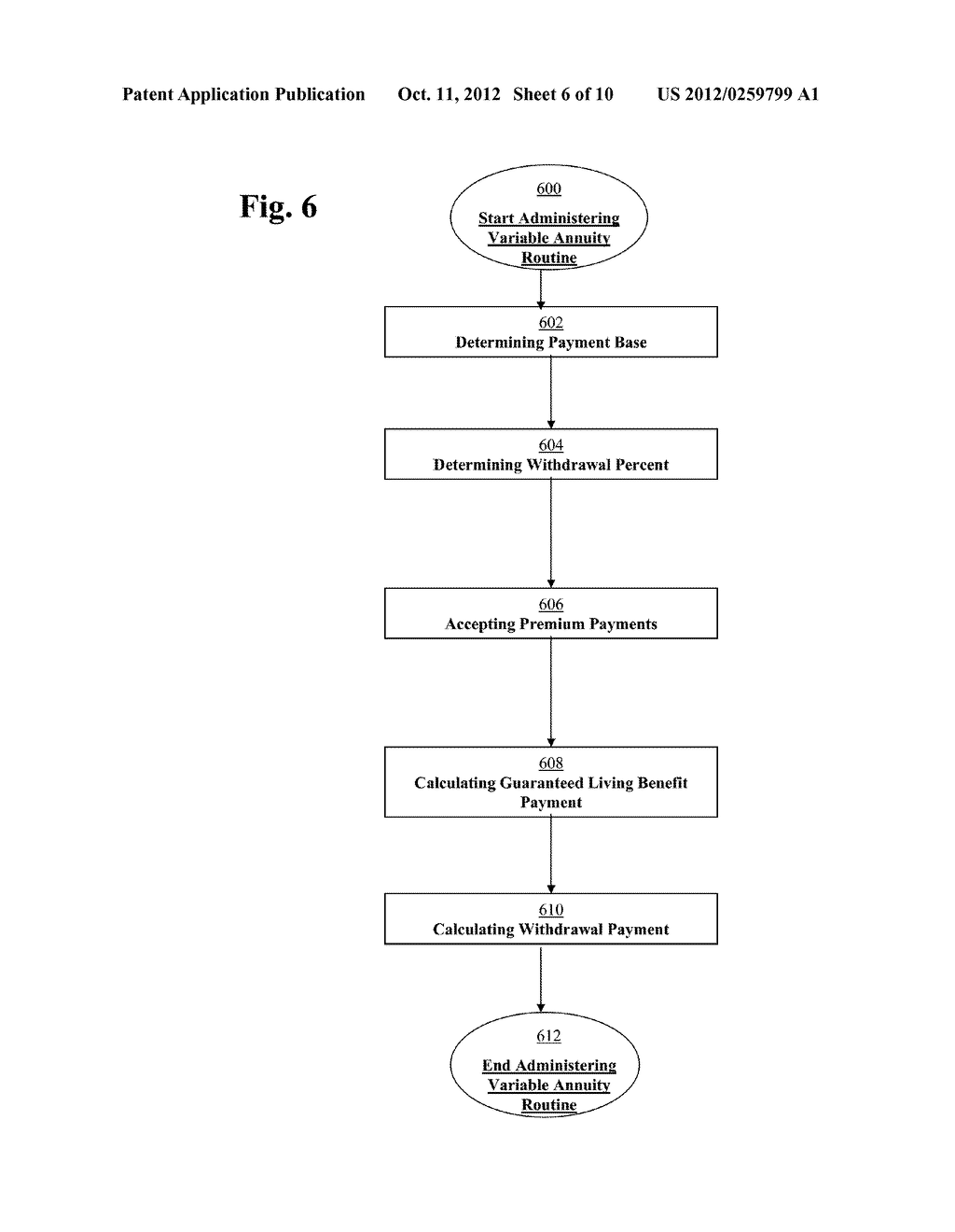 METHOD AND SYSTEM FOR PROCESSING DATA RELATING TO INVESTMENT PRODUCTS     HAVING A PAYMENT GUARANTEE - diagram, schematic, and image 07