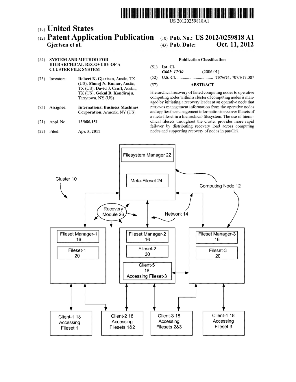 System And Method For Hierarchical Recovery Of A Cluster File System - diagram, schematic, and image 01