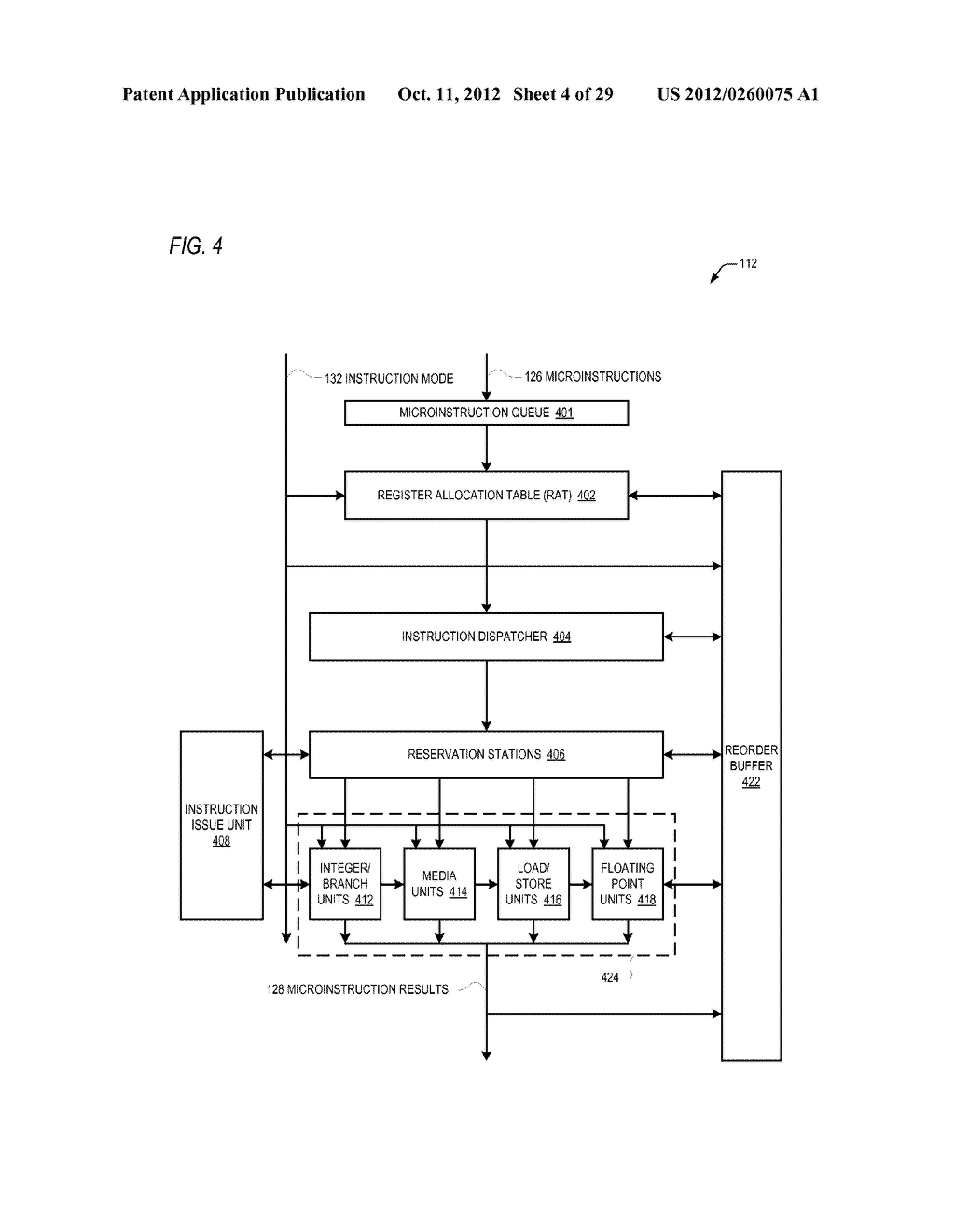 CONDITIONAL ALU INSTRUCTION PRE-SHIFT-GENERATED CARRY FLAG PROPAGATION     BETWEEN MICROINSTRUCTIONS IN READ-PORT LIMITED REGISTER FILE     MICROPROCESSOR - diagram, schematic, and image 05
