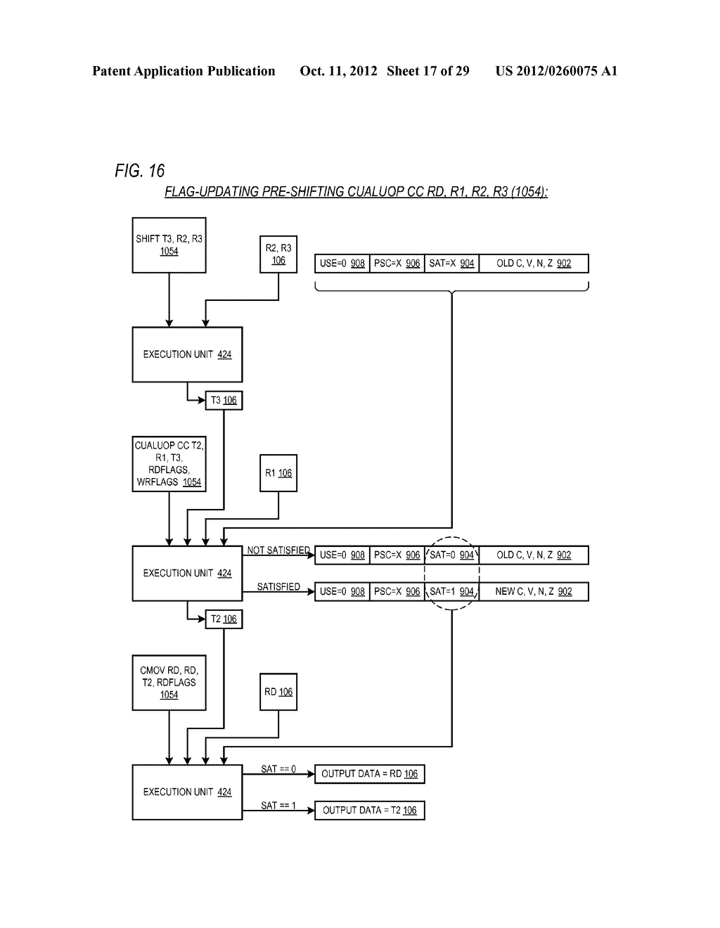 CONDITIONAL ALU INSTRUCTION PRE-SHIFT-GENERATED CARRY FLAG PROPAGATION     BETWEEN MICROINSTRUCTIONS IN READ-PORT LIMITED REGISTER FILE     MICROPROCESSOR - diagram, schematic, and image 18