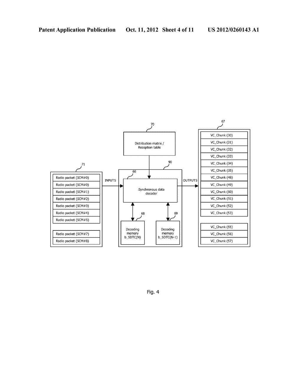 METHOD OF DECODING CONTENT DATA BLOCKS, CORRESPONDING COMPUTER PROGRAM     PRODUCT AND DECODING DEVICE - diagram, schematic, and image 05