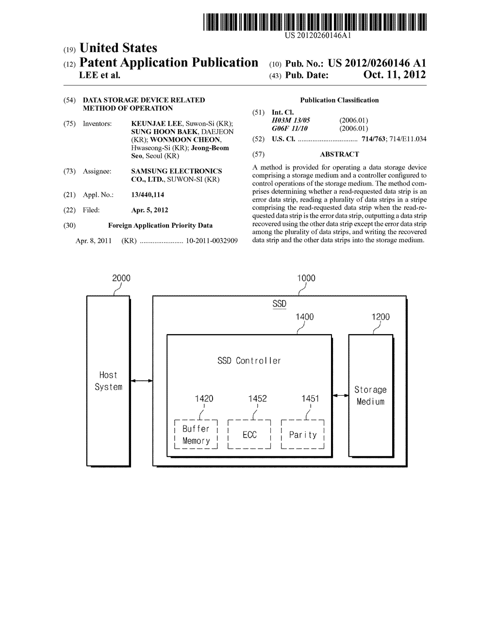 DATA STORAGE DEVICE RELATED METHOD OF OPERATION - diagram, schematic, and image 01