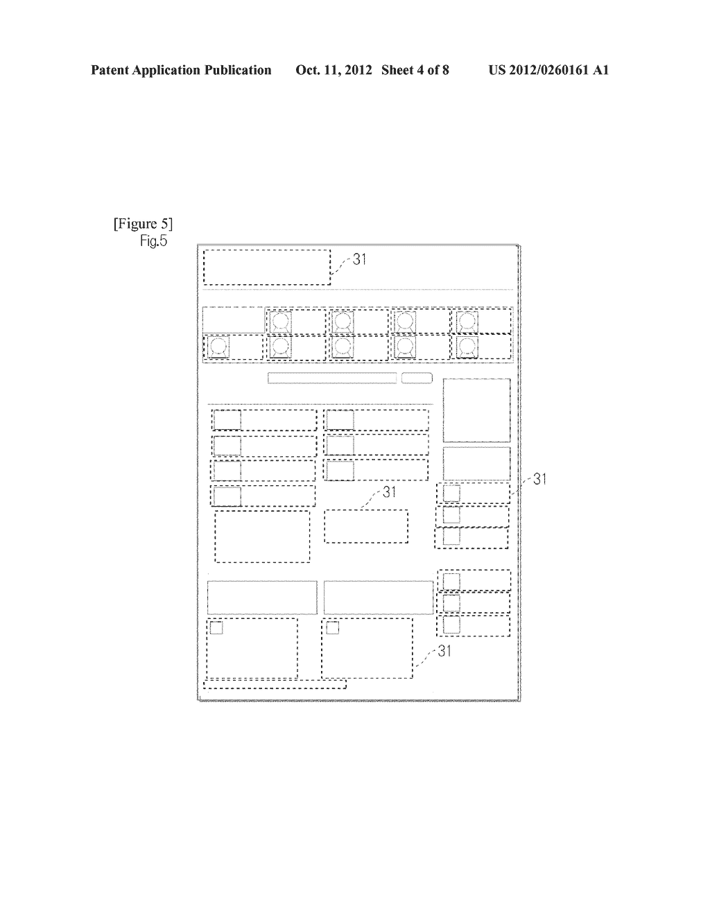 METHOD FOR CLASSIFYING AND ORGANIZING CONTENT IN RELATED WEB PAGES AND     FREELY RECONSTRUCTING AND DISPLAYING THE CONTENT - diagram, schematic, and image 05