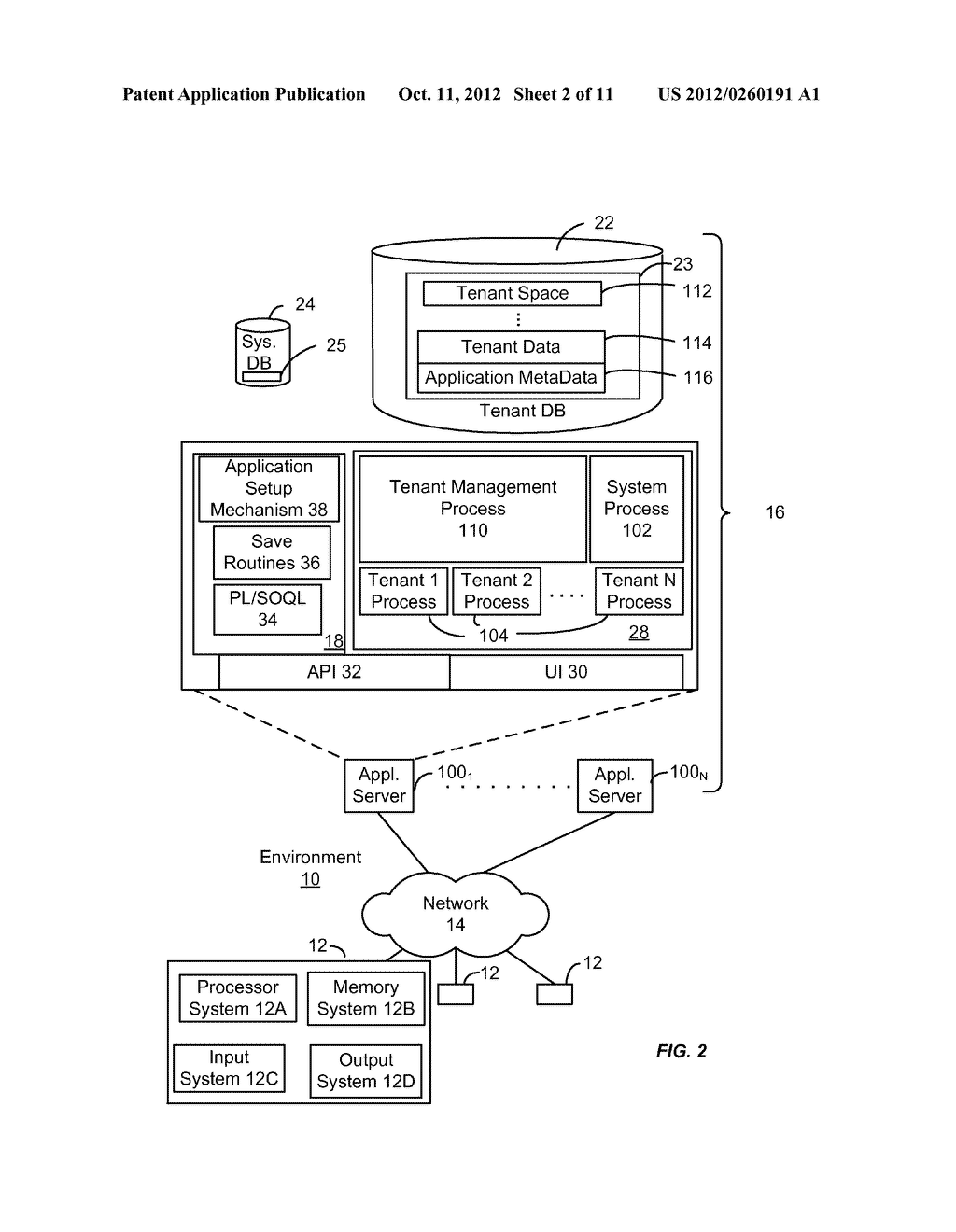 METHOD AND SYSTEM FOR CUSTOMIZING A USER INTERFACE TO AN ON-DEMAND     DATABASE SERVICE - diagram, schematic, and image 03