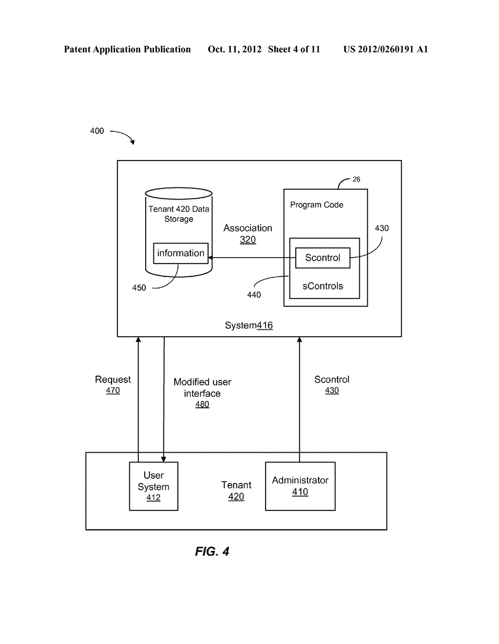 METHOD AND SYSTEM FOR CUSTOMIZING A USER INTERFACE TO AN ON-DEMAND     DATABASE SERVICE - diagram, schematic, and image 05
