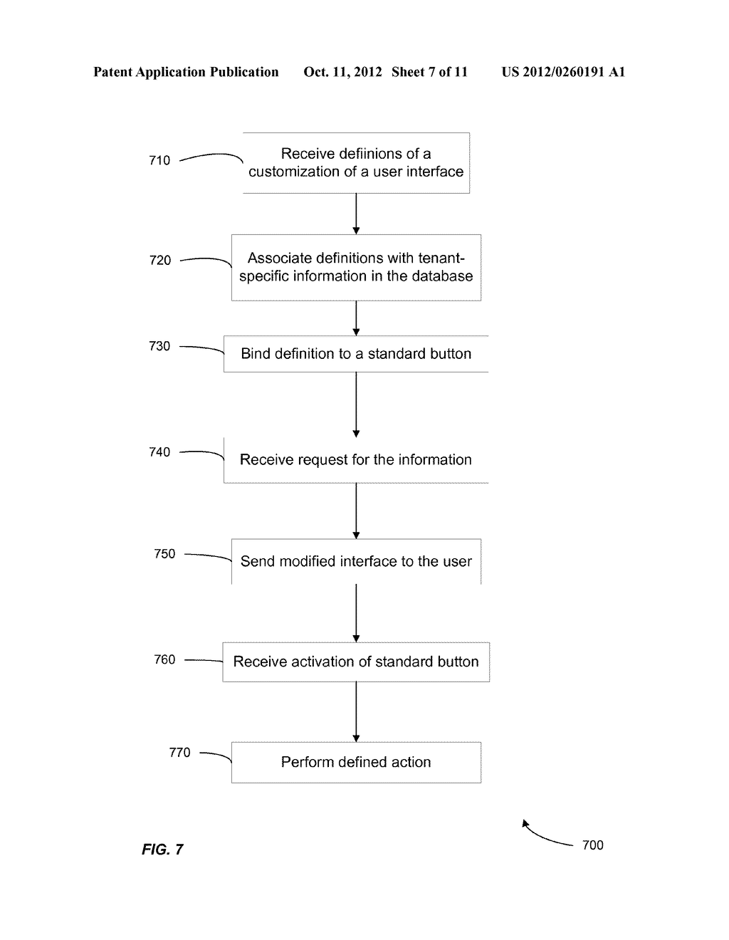 METHOD AND SYSTEM FOR CUSTOMIZING A USER INTERFACE TO AN ON-DEMAND     DATABASE SERVICE - diagram, schematic, and image 08