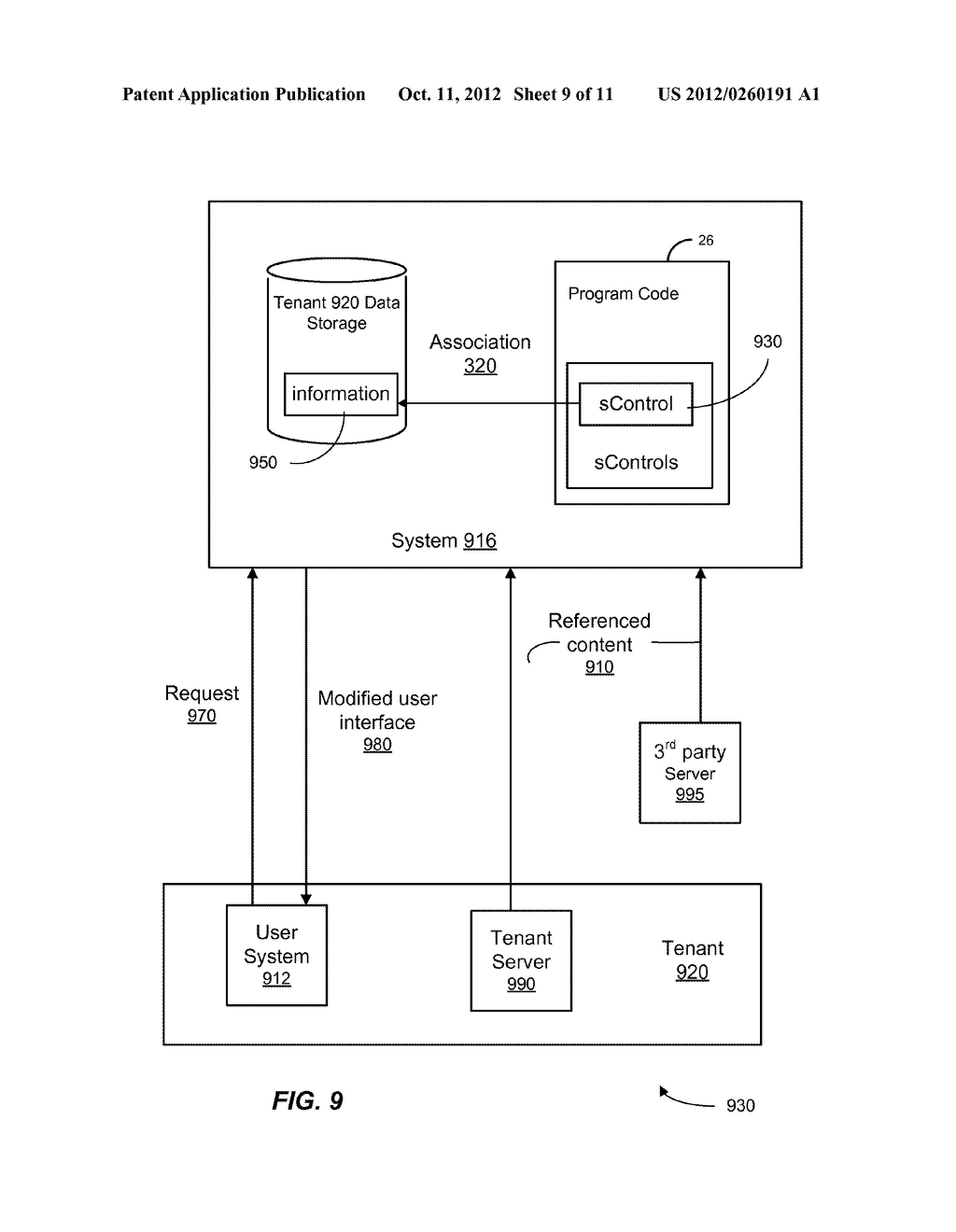 METHOD AND SYSTEM FOR CUSTOMIZING A USER INTERFACE TO AN ON-DEMAND     DATABASE SERVICE - diagram, schematic, and image 10