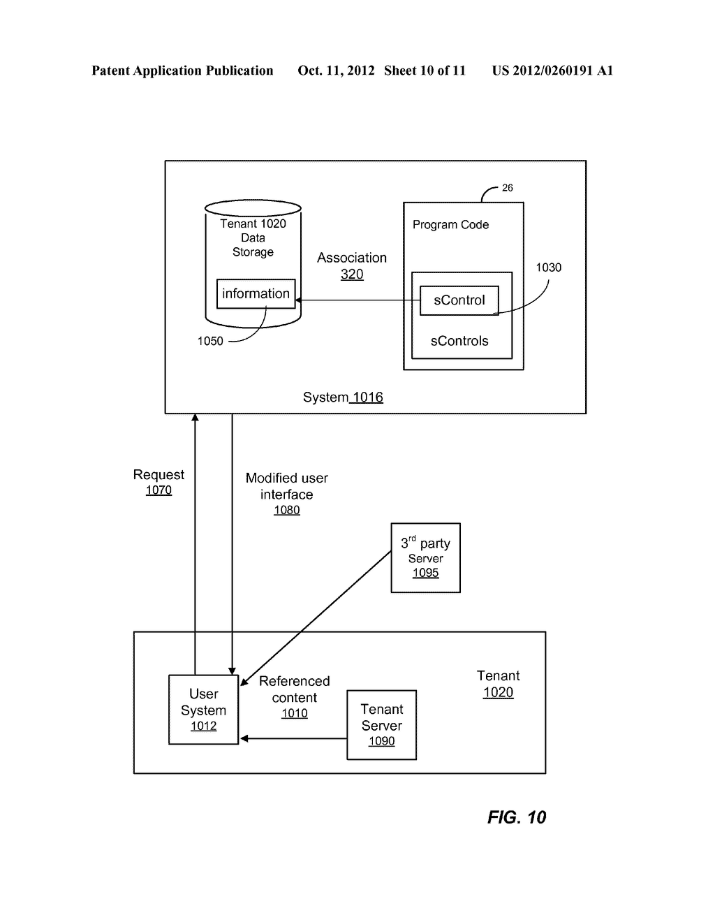 METHOD AND SYSTEM FOR CUSTOMIZING A USER INTERFACE TO AN ON-DEMAND     DATABASE SERVICE - diagram, schematic, and image 11