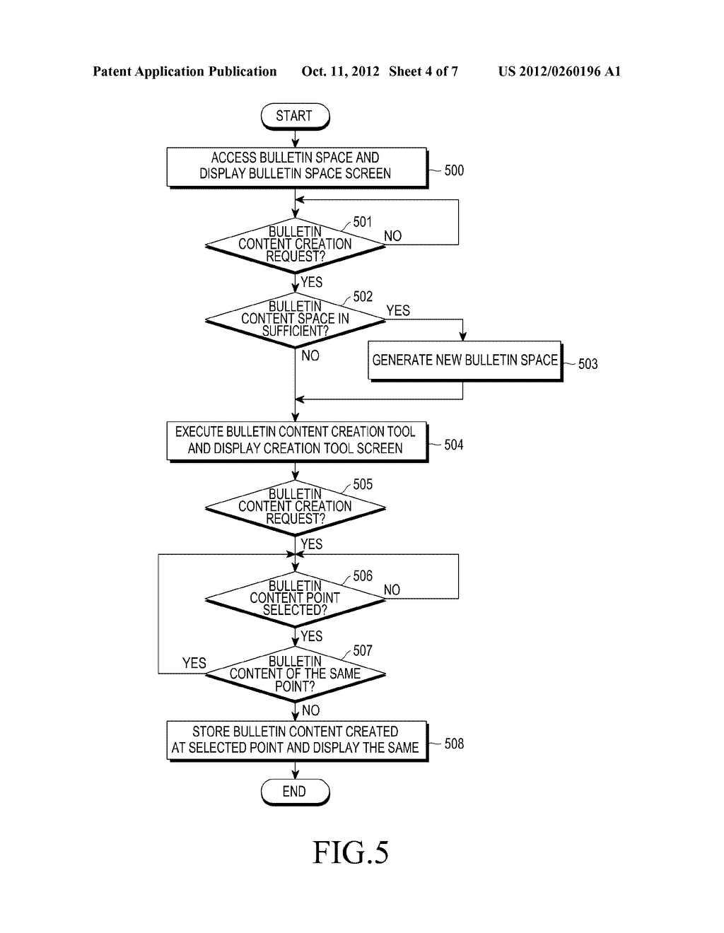 APPARATUS AND METHOD FOR SHARING INFORMATION IN VIRTUAL SPACE - diagram, schematic, and image 05