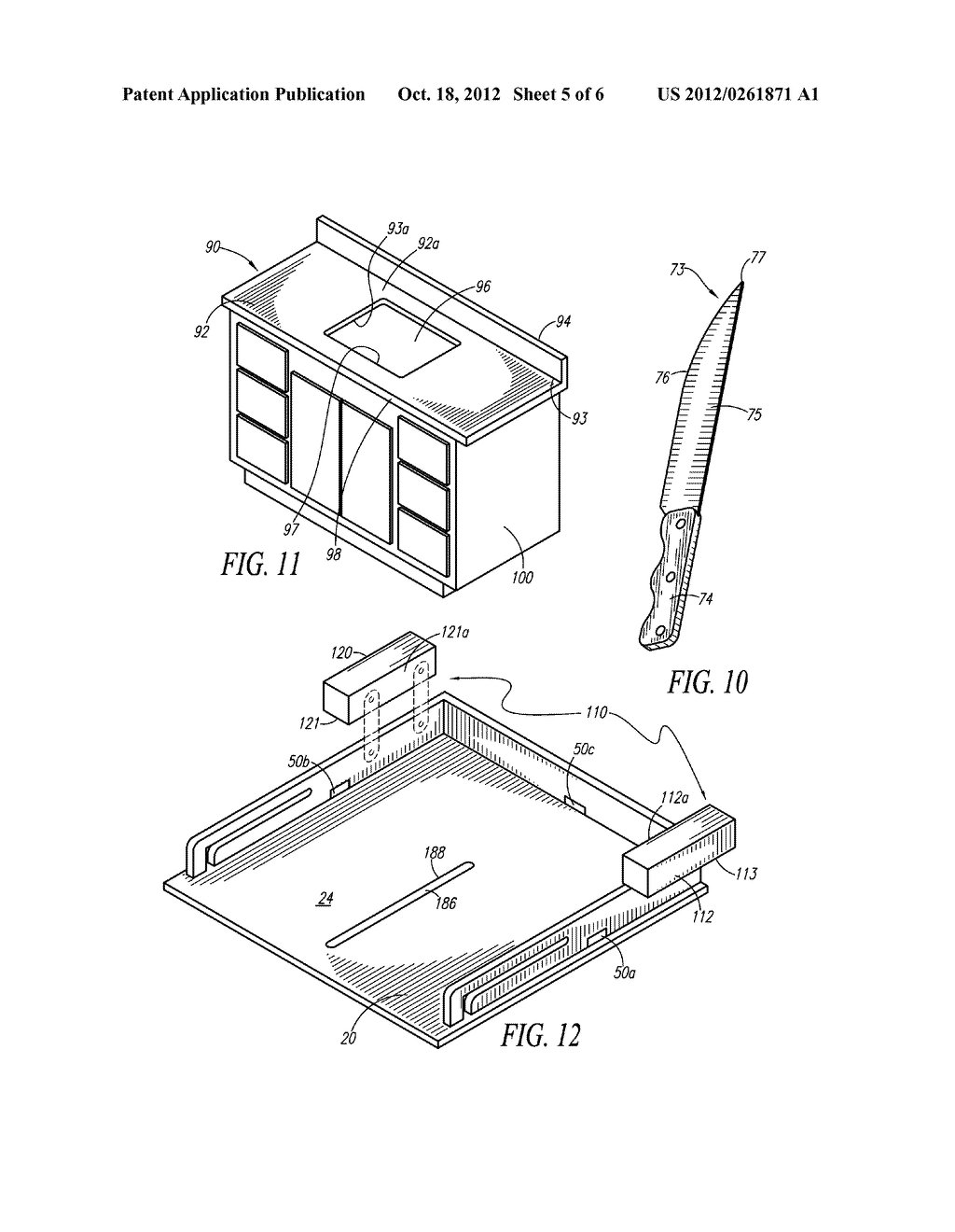 Cutting Board Device Integrally Supported By Countertop - diagram, schematic, and image 06