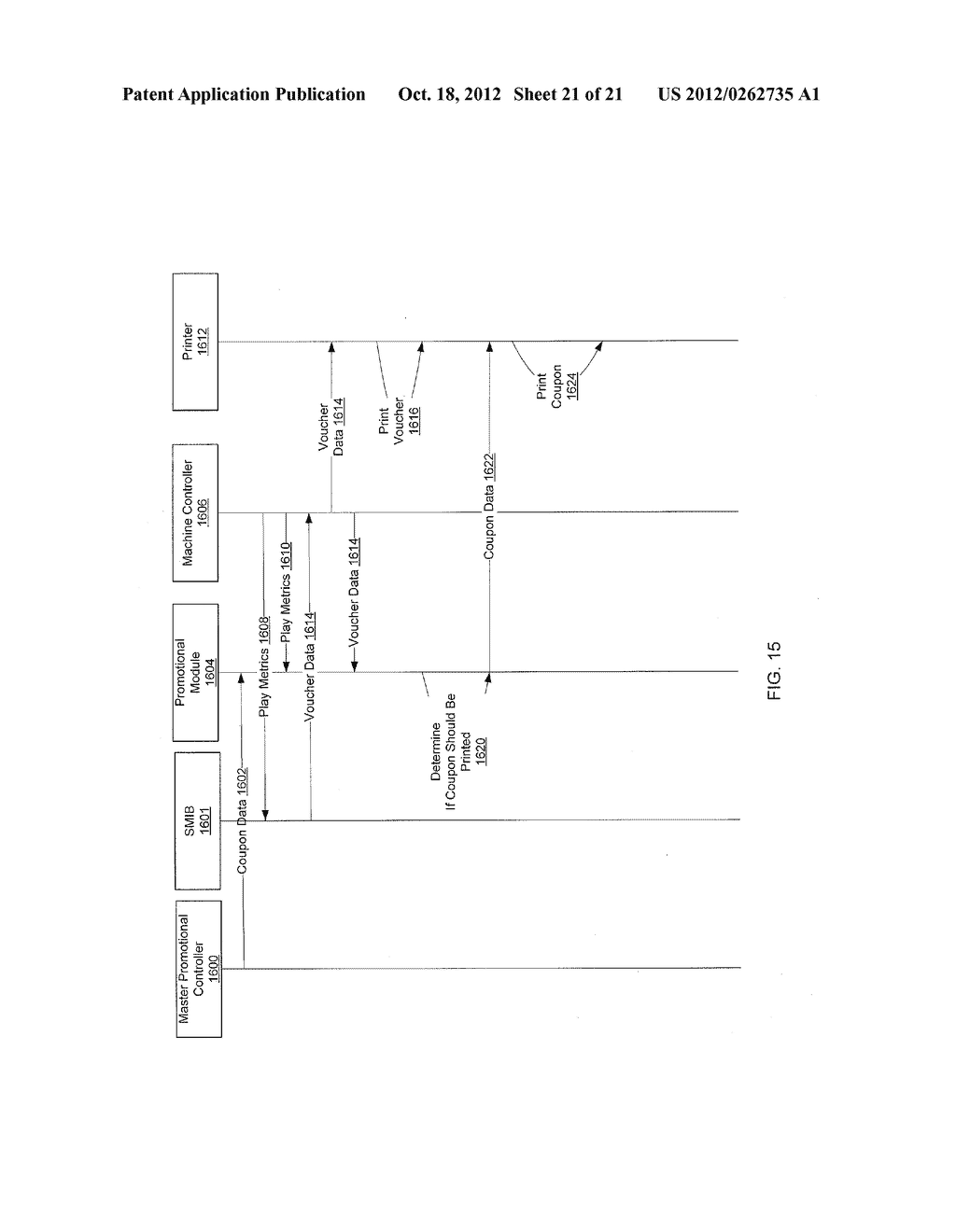 METHOD AND APPARATUS FOR GAMING PROMOTIONAL PRINTER - diagram, schematic, and image 22