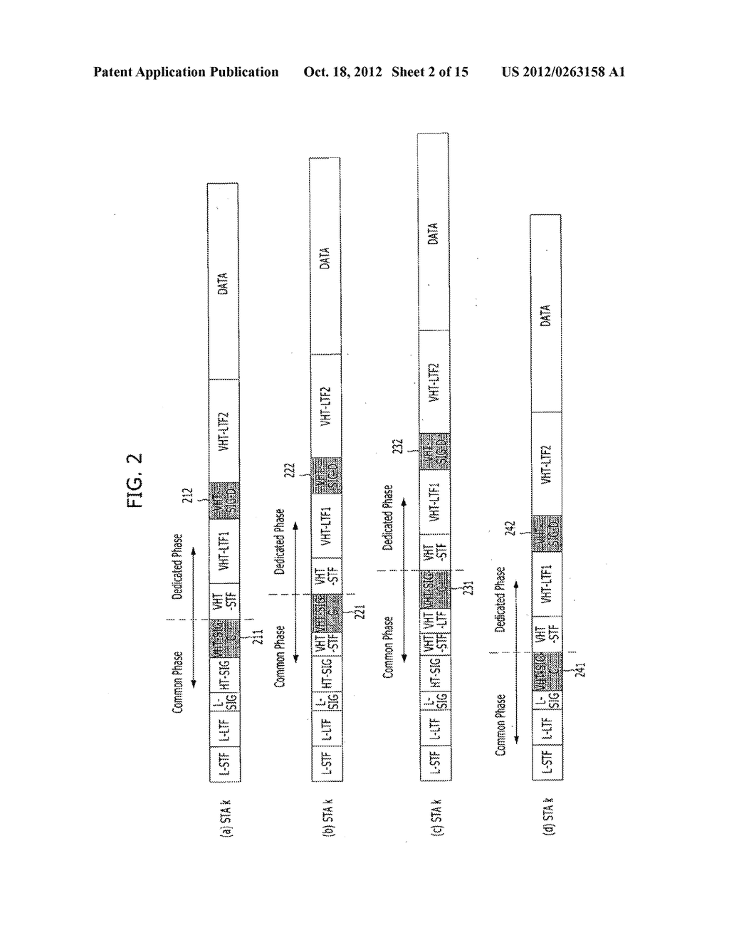 METHOD FOR TRANSMITTING CONTROL AND TRAINING SYMBOLS IN MULTI-USER     WIRELESS COMMUNICATION SYSTEM - diagram, schematic, and image 03