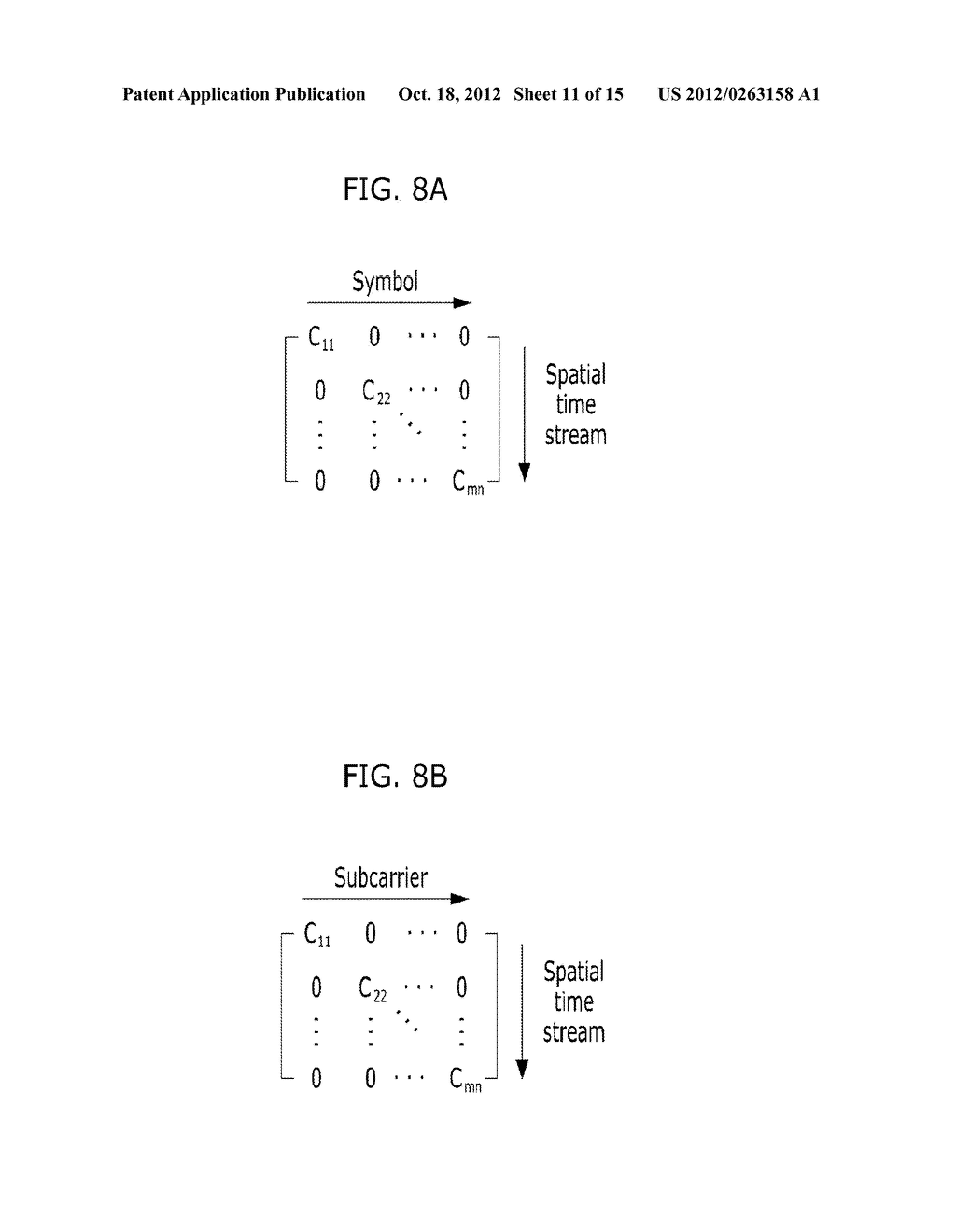 METHOD FOR TRANSMITTING CONTROL AND TRAINING SYMBOLS IN MULTI-USER     WIRELESS COMMUNICATION SYSTEM - diagram, schematic, and image 12