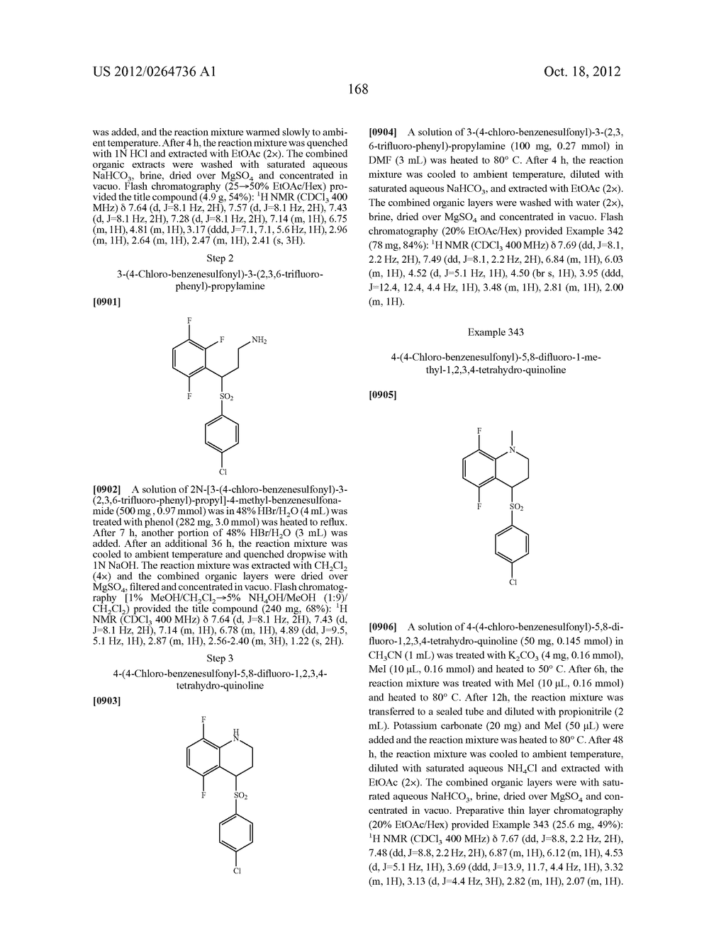 BENZENESULFONYL-CHROMANE, THIOCHROMANE, TETRAHYDRONAPHTHALENE AND RELATED     GAMMA SECRETASE INHIBITORS - diagram, schematic, and image 169
