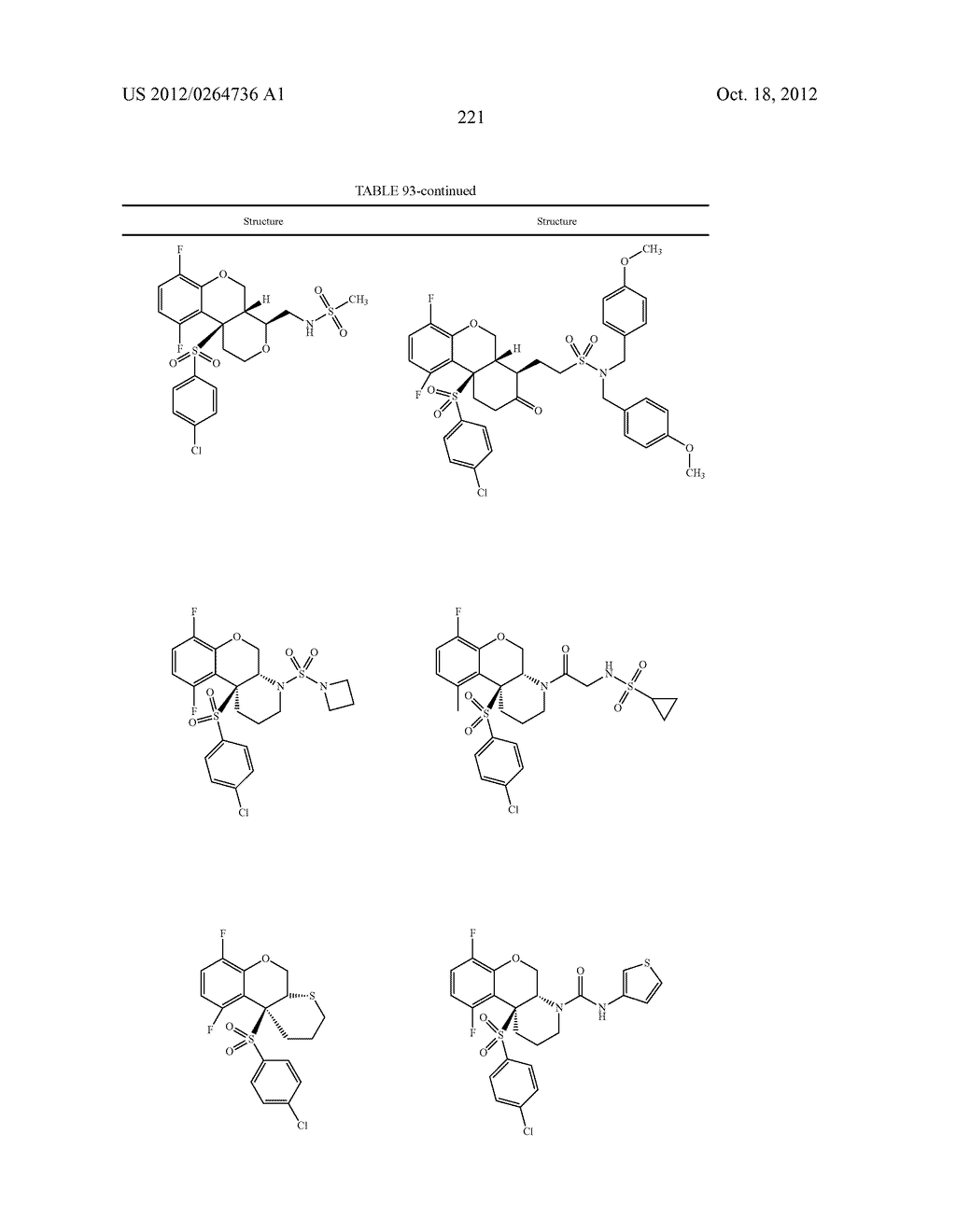 BENZENESULFONYL-CHROMANE, THIOCHROMANE, TETRAHYDRONAPHTHALENE AND RELATED     GAMMA SECRETASE INHIBITORS - diagram, schematic, and image 222