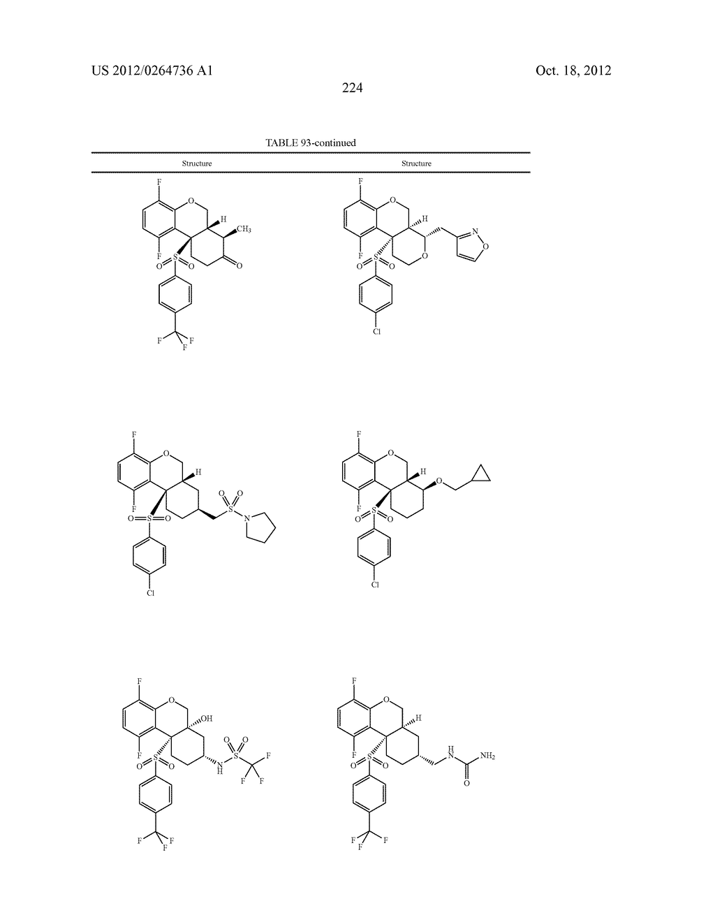 BENZENESULFONYL-CHROMANE, THIOCHROMANE, TETRAHYDRONAPHTHALENE AND RELATED     GAMMA SECRETASE INHIBITORS - diagram, schematic, and image 225